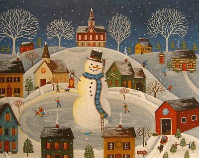 Village Snowman Poster