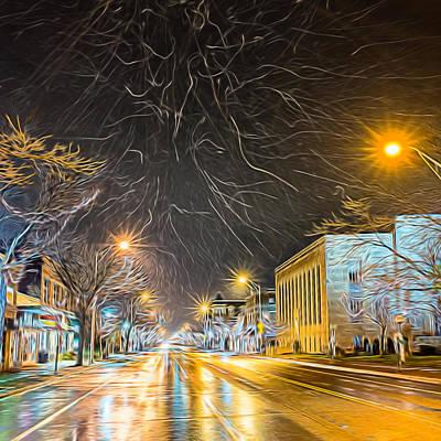 Village Winter Dream - Square Poster by Chris Bordeleau