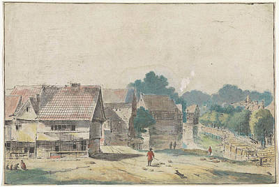 Village With Houses With Timber, Hendrik Spilman Poster