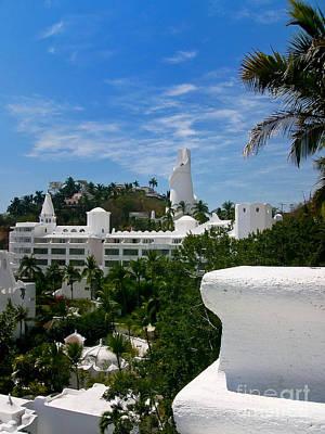 Villas On A Hillside In Manzanillo Mexico Poster