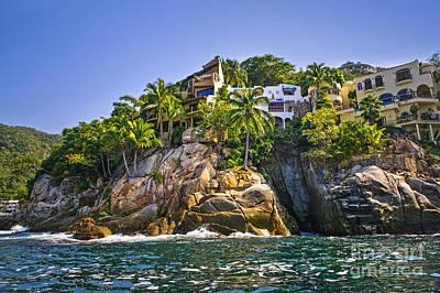 Villas On Rocks Poster
