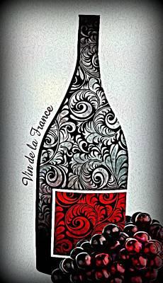 Vin De La France Poster by ABA Studio Designs