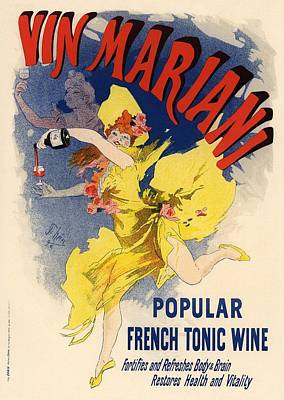 Vin Mariani Poster by Gianfranco Weiss