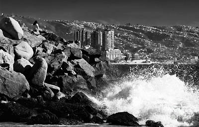 Vina Del Mar Waves Poster by John Rizzuto