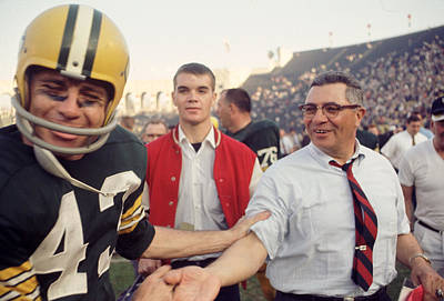 Vince Lombardi Shaking Hands Poster by Retro Images Archive