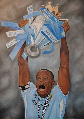 Poster featuring the painting Vincent Kompany by David Dunne
