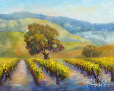 Vineyard Gold Poster by Carolyn Jarvis