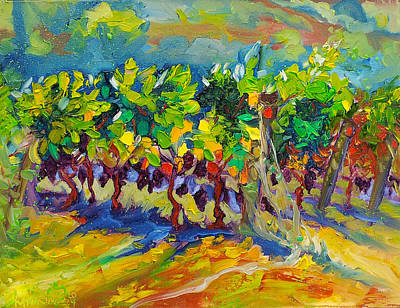 Vineyard Harvest Oil Painting Poster