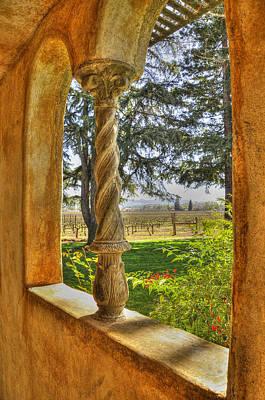 Vineyard View Poster by Wendy Elliott