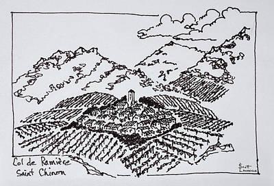 Vineyards In The Col De La Ramiere Poster