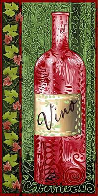 Vino Reds Poster by Sharon Marcella Marston