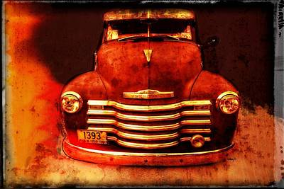 Vintage 1950 Chevy Truck Poster