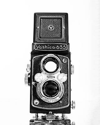 Vintage 1950s Yashica 635 Camera Poster by Jon Woodhams