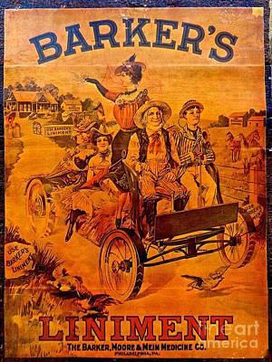 Vintage Ad Barker's Liniment Poster
