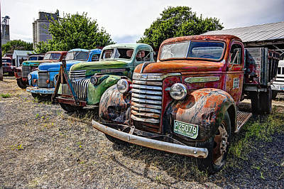 Vintage American Truck Lineup Poster