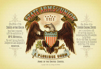 Vintage Arms Of The United States - 1876 Poster