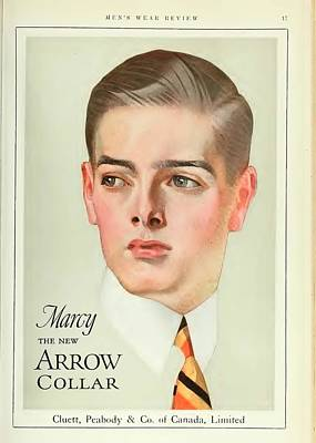 Vintage Arrow Shirts Advert Poster by Georgia Fowler