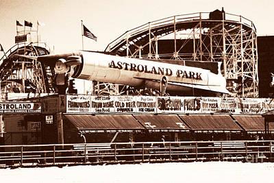 Vintage Astroland Park Poster by John Rizzuto