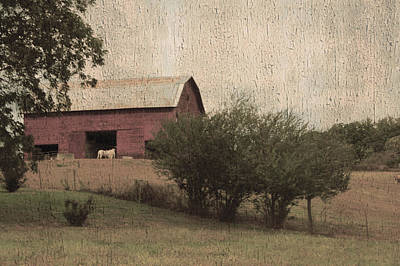 Vintage Barn Scene Poster