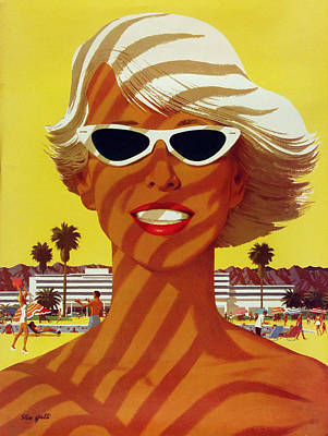 Vintage Beach  Poster by Georgia Fowler