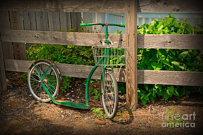 Vintage Bicycle At Rest - Painterly Poster by Paul Ward