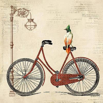Vintage Bike-a Poster by Jean Plout