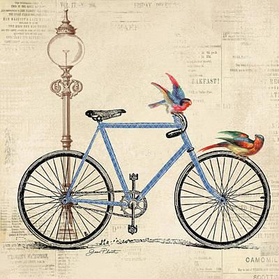 Vintage Bike-b Poster by Jean Plout