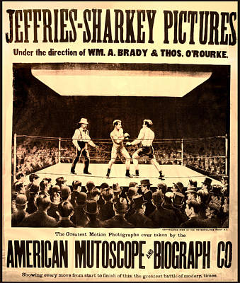 Vintage Boxing Movie Poster Poster by Bill Cannon