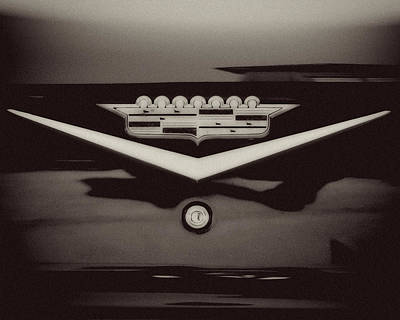 Vintage Cadillac Emblem Poster by Lisa Russo