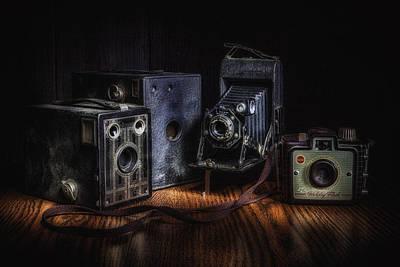 Vintage Cameras Still Life Poster