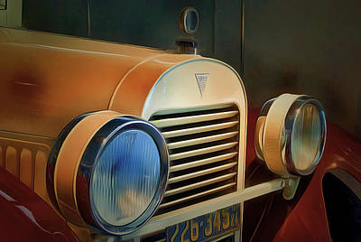 Vintage Car 2 Poster by Yury Malkov