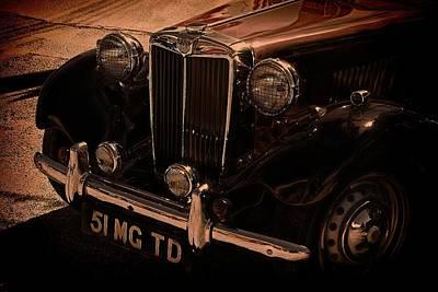 Vintage Car Art 51 Mg Td Poster by Lesa Fine