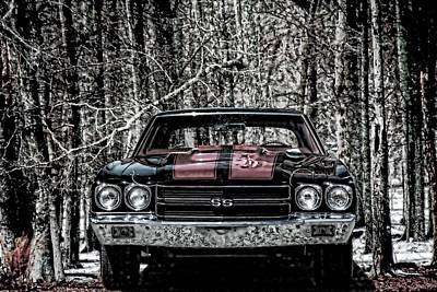 Vintage Car Art Chevy Chevelle Ss Selective Poster by Lesa Fine