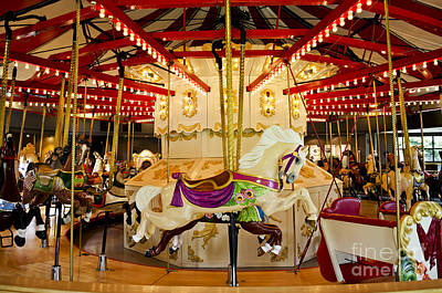 Poster featuring the photograph Vintage Carousel by Maria Janicki