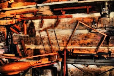 Vintage Carpenter's Workshop Poster by Dan Sproul
