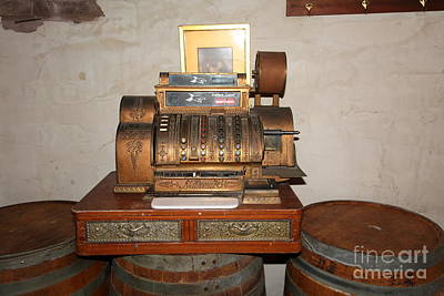 Vintage Cash Register At The Swiss Hotel In Sonoma California 5d24440 Poster by Wingsdomain Art and Photography