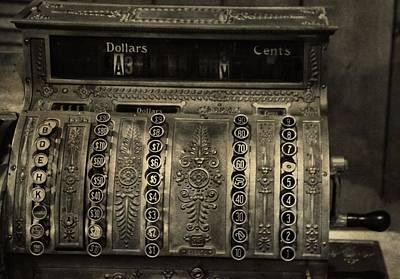 Vintage Cash Register Poster by Dan Sproul