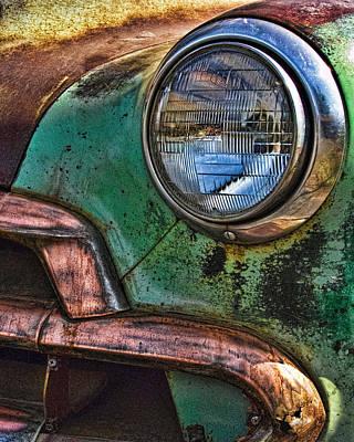 Vintage Chevy 3 Poster by Nancy De Flon