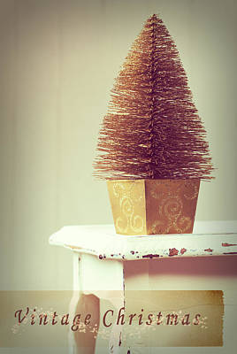 Vintage Christmas Treee Poster by Amanda Elwell