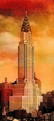 Vintage Chrysler Building Poster by Andrew Fare