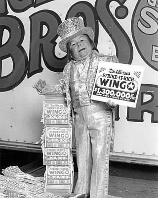 Vintage Circus Performer Advertising Poster