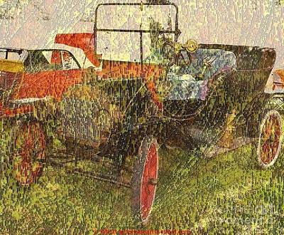 Vintage Classic Automobile Poster by PainterArtist FIN