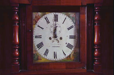 Vintage Clock Wallclock Swiss Time Period Minute Second Hour Calculate Border Frame Wooden Case Wood Poster by Navin Joshi