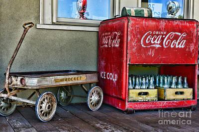 Vintage Coca-cola And Rocket Wagon Poster by Paul Ward