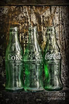 Vintage Coke Bottles Poster