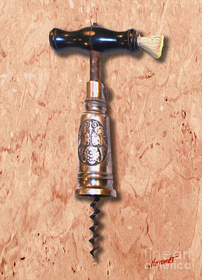 German Perpetual Barrel Corkscrew Painting Poster by Jon Neidert