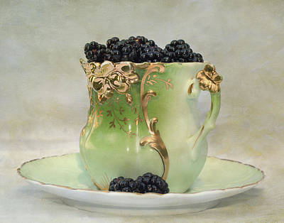 Poster featuring the photograph Vintage Cup O Berries by Kathleen Holley