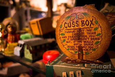 Vintage Cuss Box Poster by Amy Cicconi