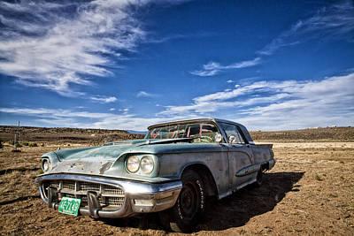 Vintage Desert Car Poster by Shanna Gillette