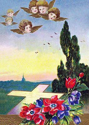Vintage Easter Card Poster by Munir Alawi